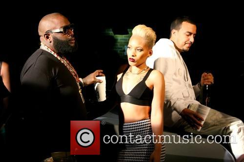 Rick Ross, Jaleesa Mitcheil and French Montana 5