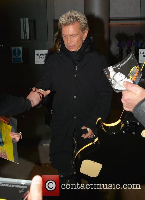 Billy Idol arriving at Vicar Street