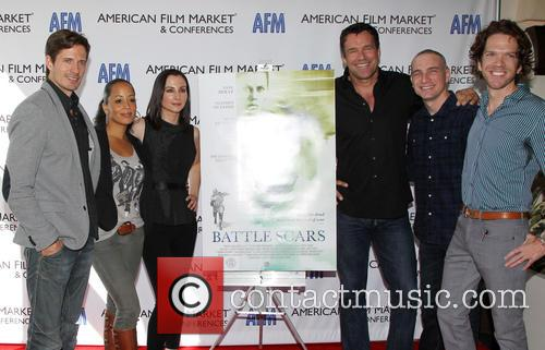 Lane Carson, Essence Atkins, Heather Mccomb, David James Elliott, Danny Buday and George Young Warner 5