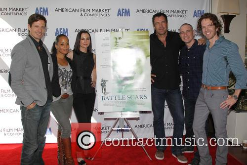 Lane Carson, Essence Atkins, Heather Mccomb, David James Elliott, Danny Buday and George Young Warner 1