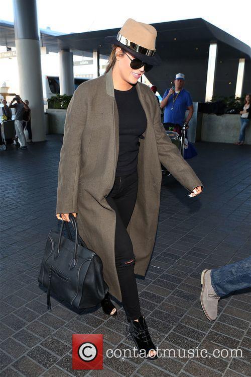 Khloe Kardashian departs from Los Angeles International Airport...