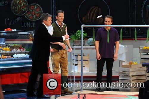 Hugh Grant, Markus Lanz and Milan Zivojinovic 3