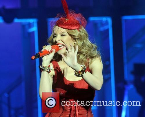 Kylie Minogue performs live at the 3Arena