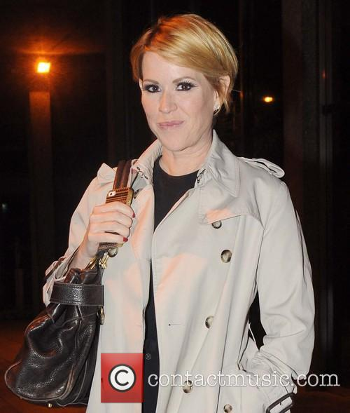 Actress Molly Ringwald leaves the RTE studios