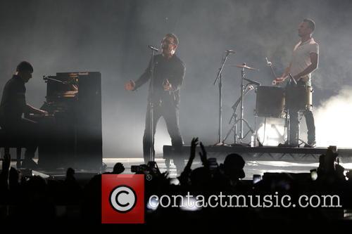 The Edge (l-r), Bono and Larry Mullen Jr. Of U2 2
