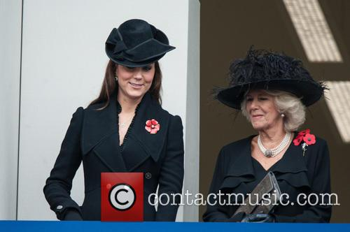 Catherine, The Duchess Of Cambridge and The Duchess Of Cornwall 9