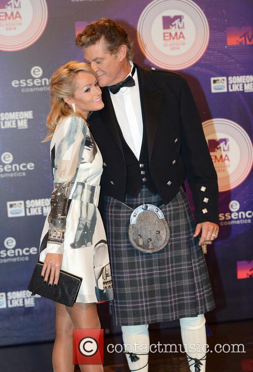 David Hasselhoff and Hayley Roberts 10