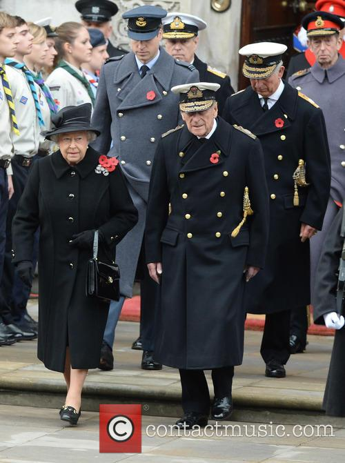 Queen Elizabeth Ii, Prince Charles, Prince William and Prince Phili 3