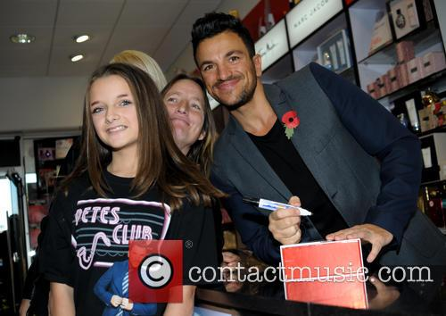 Peter Andre promotes his perfume and greets fans...