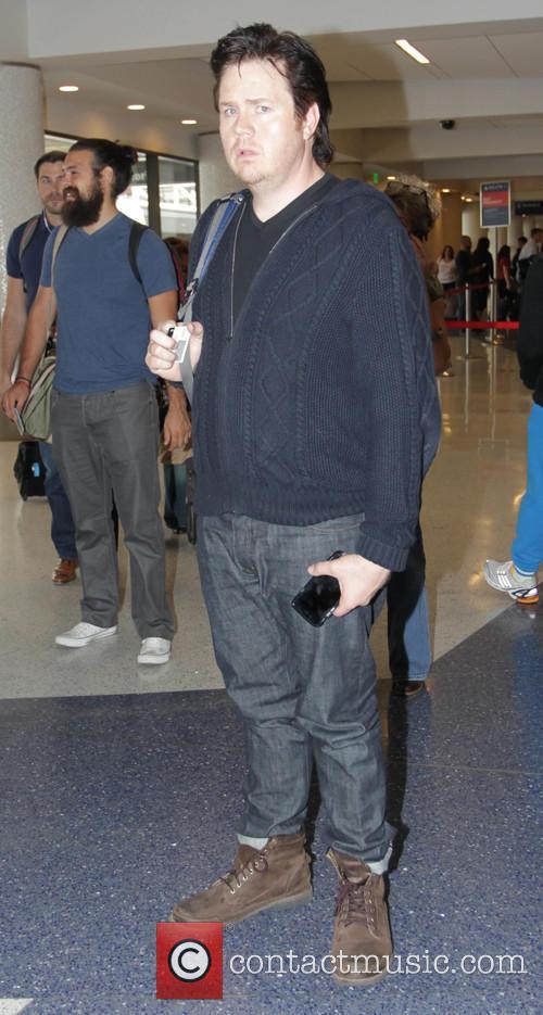 Josh McDermitt departs Los Angeles International Airport