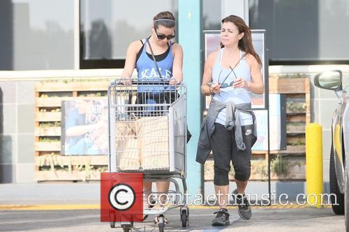 Lea Michele and her mother leaving Whole Foods...