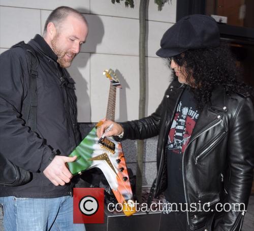 Slash outside The Morrison Hotel