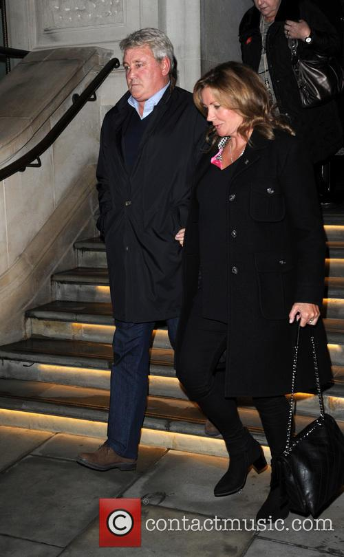 Steve Bruce and his wife Janet Bruce leave...
