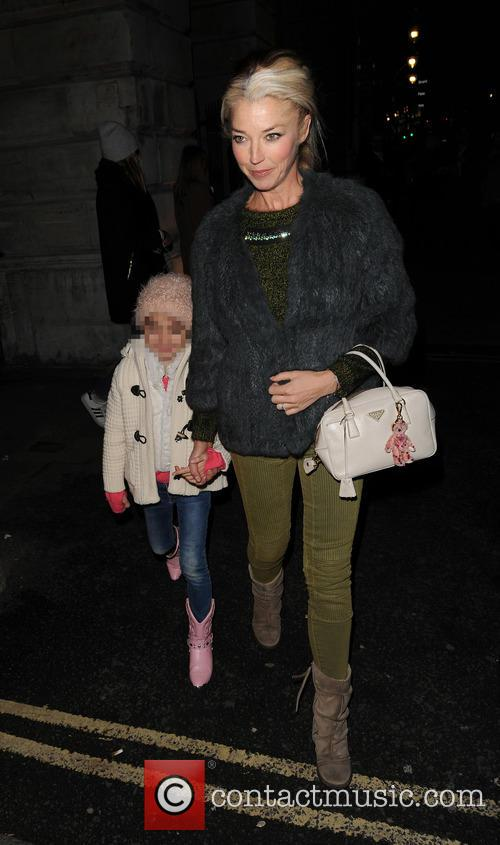 Tamara Beckwith and her daughter arrive at Somerset...