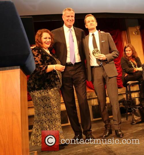Cynthia Lopez, Bill De Blasio and Neil Patrick Harris 1