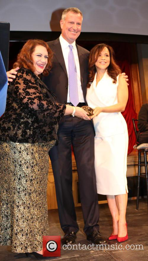 Cynthia Lopez, Bill De Blasio and Rosie Perez 3