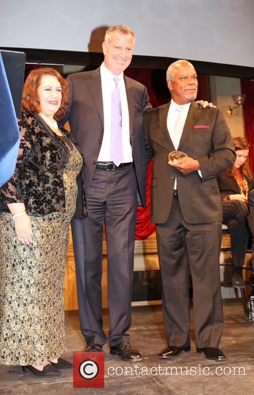 Cynthia Lopez, Bill De Blasio and Stanley Nelson 2