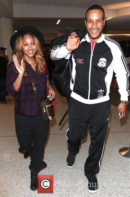 Meagan Good and DeVon Franklin arrive at Los...