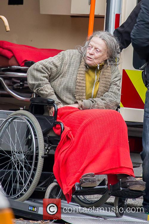 Maggie Smith Filming