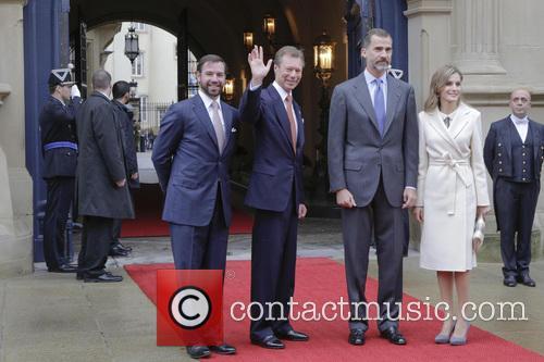 King Felipe Vi, Queen Letizia Of Spain and Grand Duc Henri 2