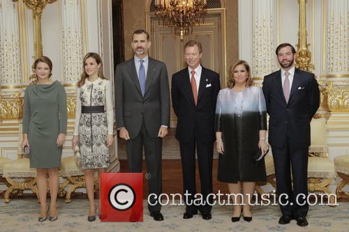 King Felipe Vi, Queen Letizia Of Spain and Grand Duc Henri 3