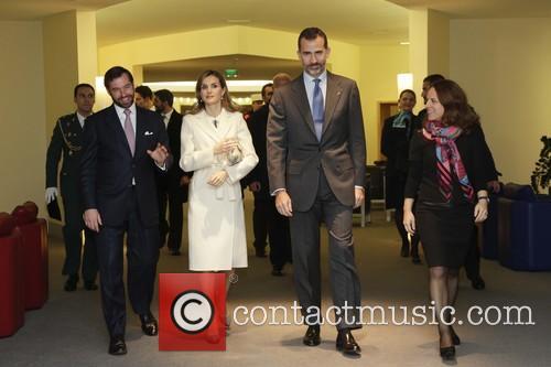 King Felipe Vi, Queen Letizia Of Spain and Grand Duc Henri 4