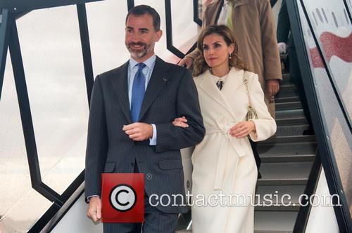 King Felipe VI and Queen Letizia during a...