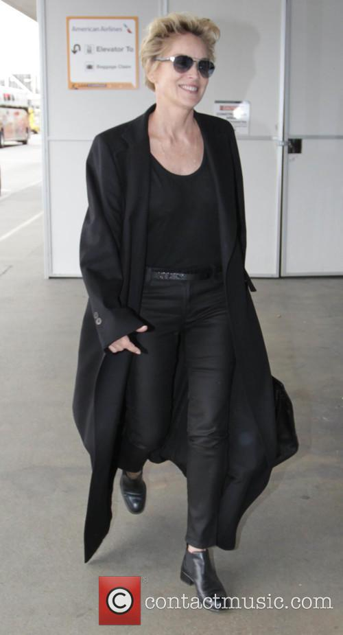Sharon Stone departs LAX in Los Angeles