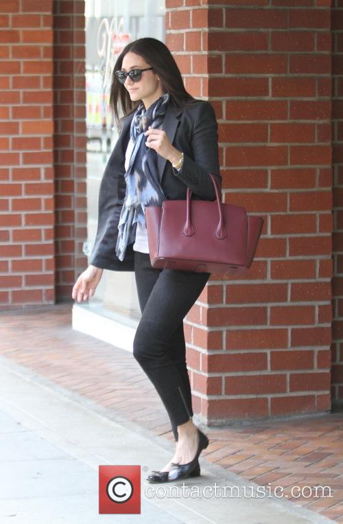 Emmy Rossum goes to a salon in Beverly...