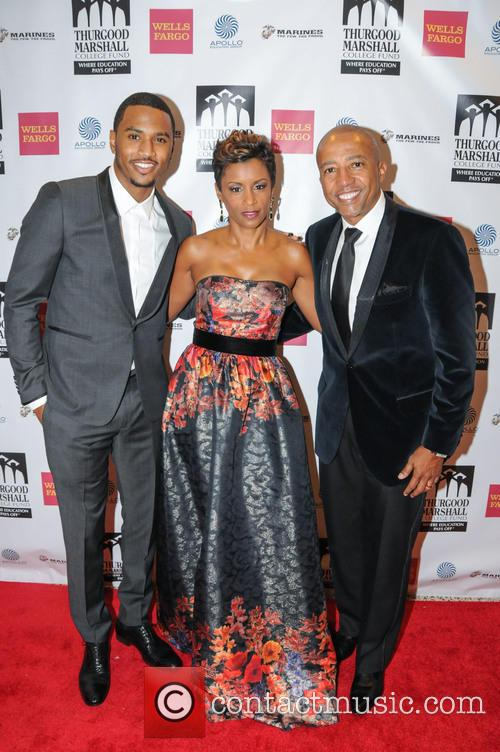 Trey Songz, April Tucker and Kevin Liles 2