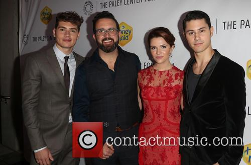 Greg Sulkin, Carter Covington, Katie Stevens and Michael J. Willett 6