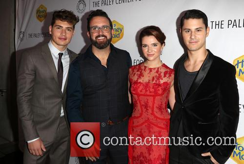 Greg Sulkin, Carter Covington, Katie Stevens and Michael J. Willett 8