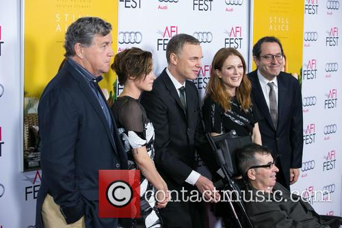 Tom Bernard, Kristen Stewart, Wash Westmoreland, Julianne Moore, Michael Barker and Richard Glatzer 2