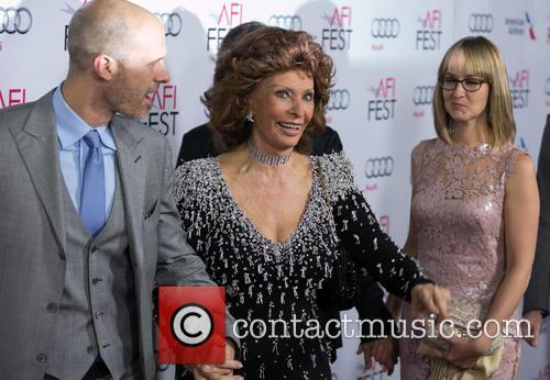 Edoardo Ponti, Sophia Loren and Andrea Meszaros Ponti 4