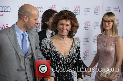 Edoardo Ponti, Sophia Loren and Andrea Meszaros Ponti