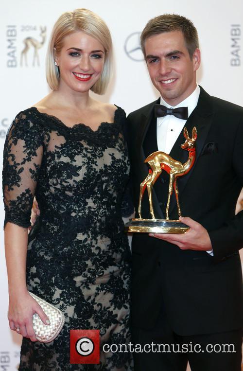 Philipp Lahm and Claudia Laum 1