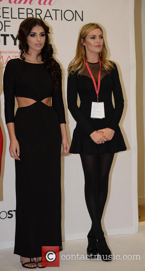 Abbey Clancy and Model 6