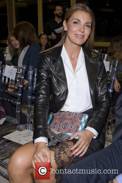 Mar Flores attends Santiago del Palacio's new collection...
