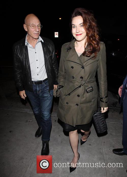 Patrick Stewart and Sunny Ozell dine at Craig's