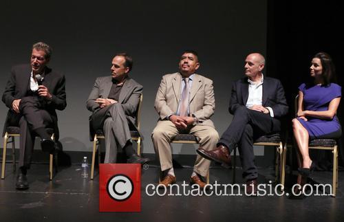 Greg Asbed, Lucas Benitez, Eric Schlosser and Eva Longoria 3