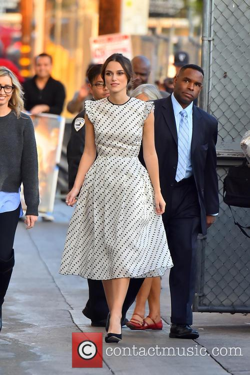 Jimmy Kimmel and Kiera Knightley 2