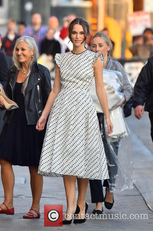 Kiera Knightley is all smiles at Jimmy Kimmel