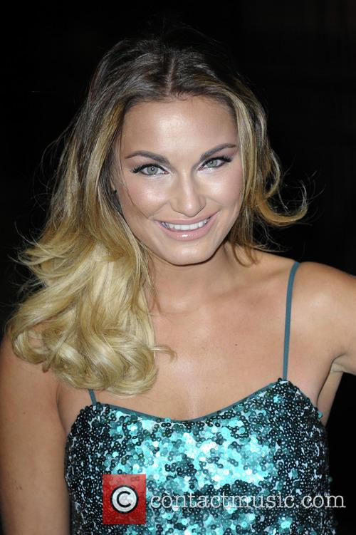 Sam Faiers wearing a green sequin dress from...