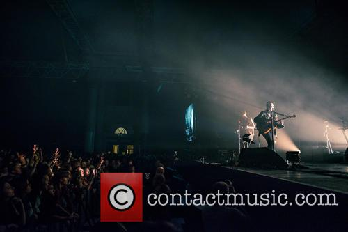 Jamie T performs at Alexandra Palace in London