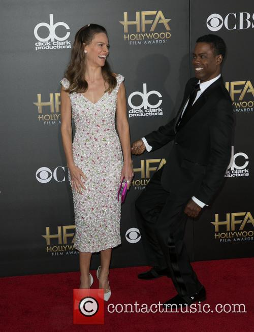 Hilary Swank and Chris Rock
