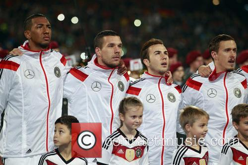 Jerone Boateng, Lukas Podolski, Mario Götze and Max Kruse 2