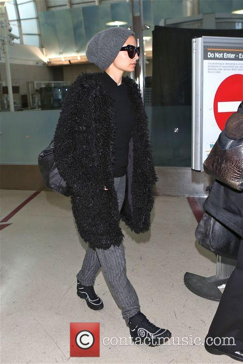 Nicole Richie arrives at Los Angeles International Airport...