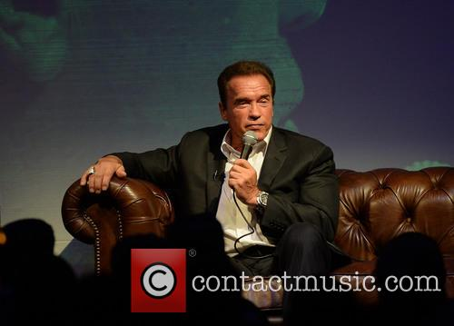 Arnold Schwarzenegger at a charity event in Leeds