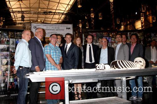 David Boreanaz, Emily Deschanel, Fox Executives, Bones Executives and Rupert Murdoch
