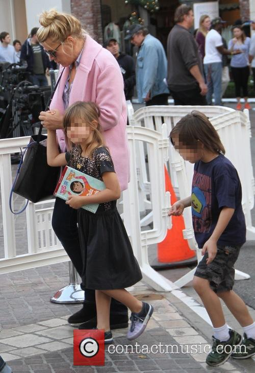 Busy Philipps and family shopping at The Grove